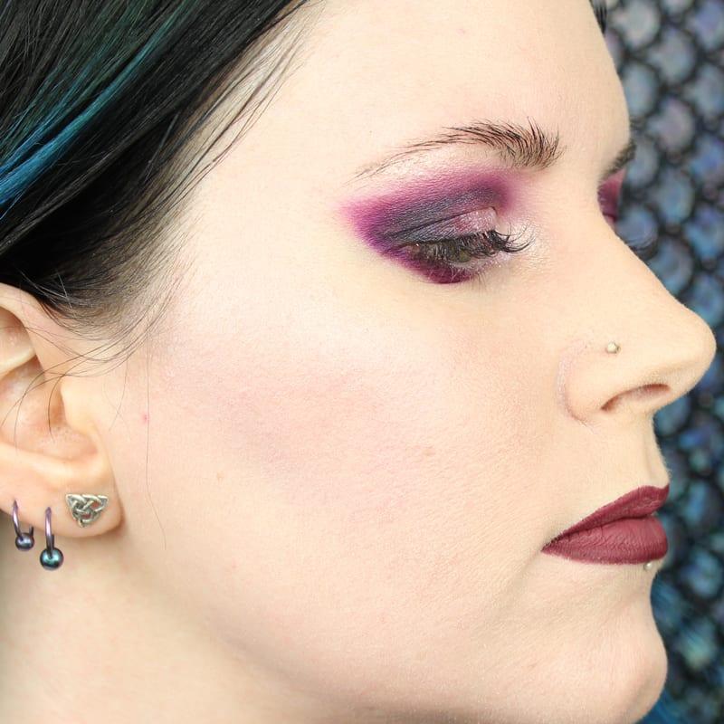 Makeup Geek Kathleen Lights Highlighter Palette Swatches on Pale Skin