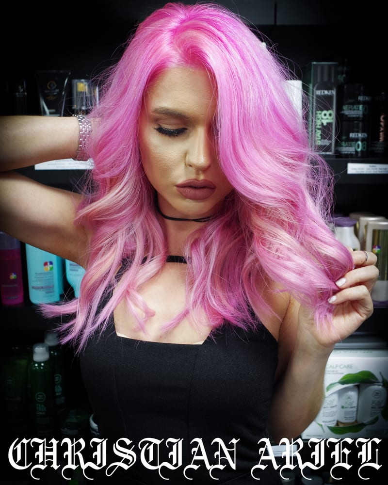 Rainbow Hair Color Ideas with Christian - Pretty in Pink