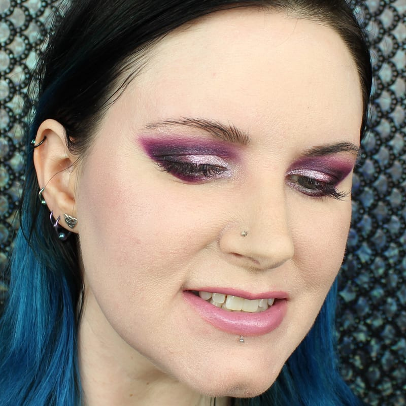 Makeup Geek Kathleen Lights Highlighter Palette Swatches and Looks