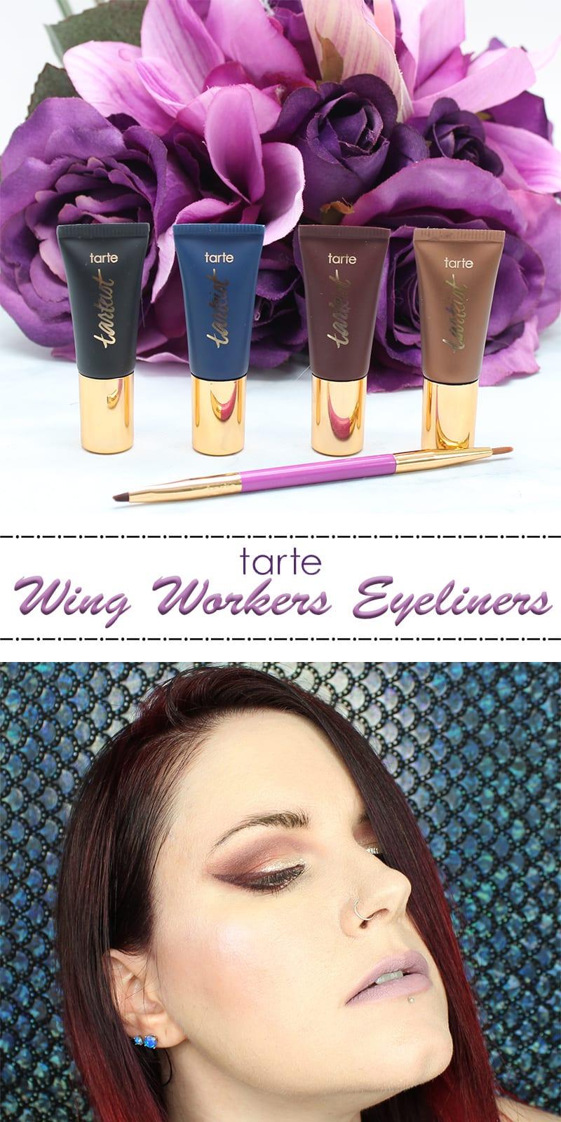 Tarte Wing Workers Deluxe Tarteist Eyeliner Set Review Swatches Look