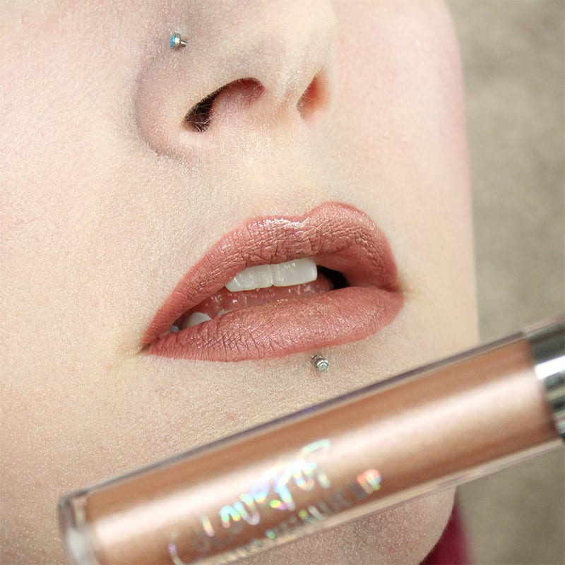 Milani Amore Matte Lip Creme in Honey with Colour Pop JIC on top