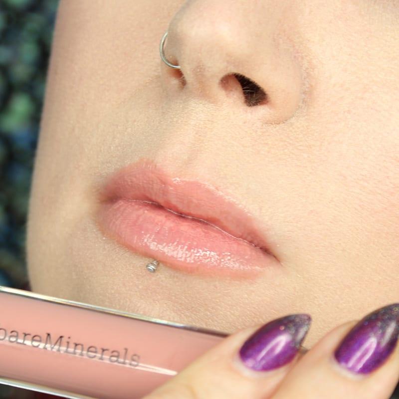 bareMinerals Gen Nude Lipsticks - Forbidden Buttercream Lipgloss swatch