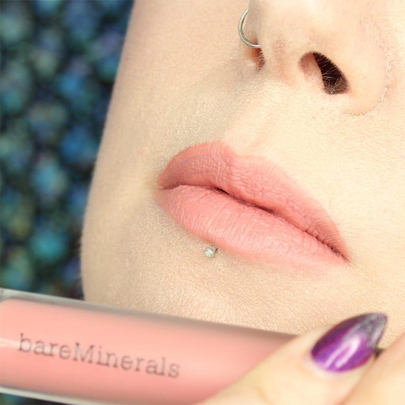 bareMinerals Gen Nude Lipsticks - Cookie Matte Liquid Lipcolor swatch