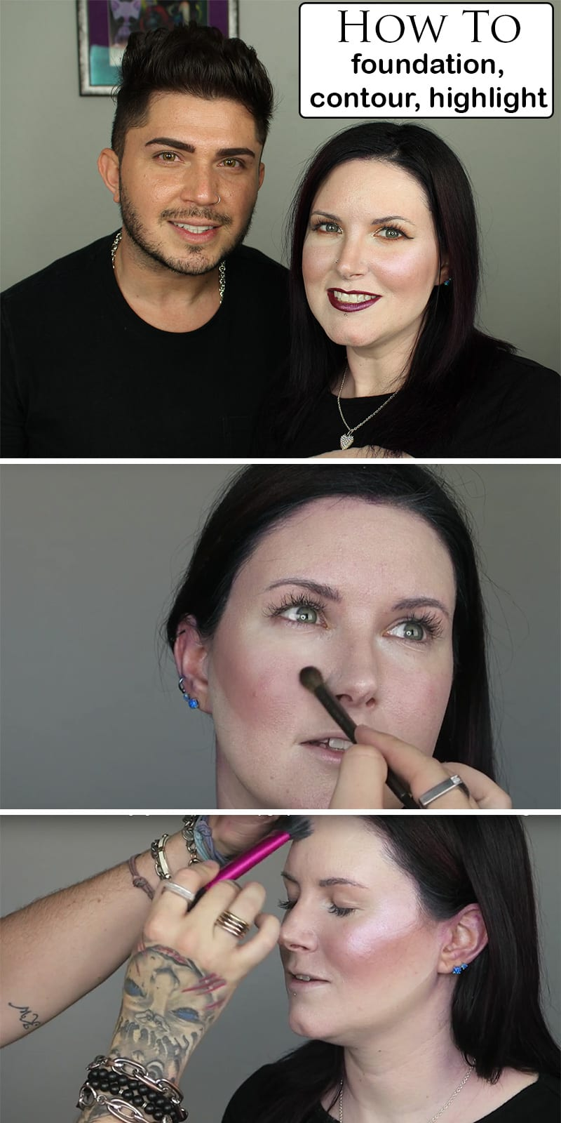 How to Apply Foundation, Contour and Highlighter
