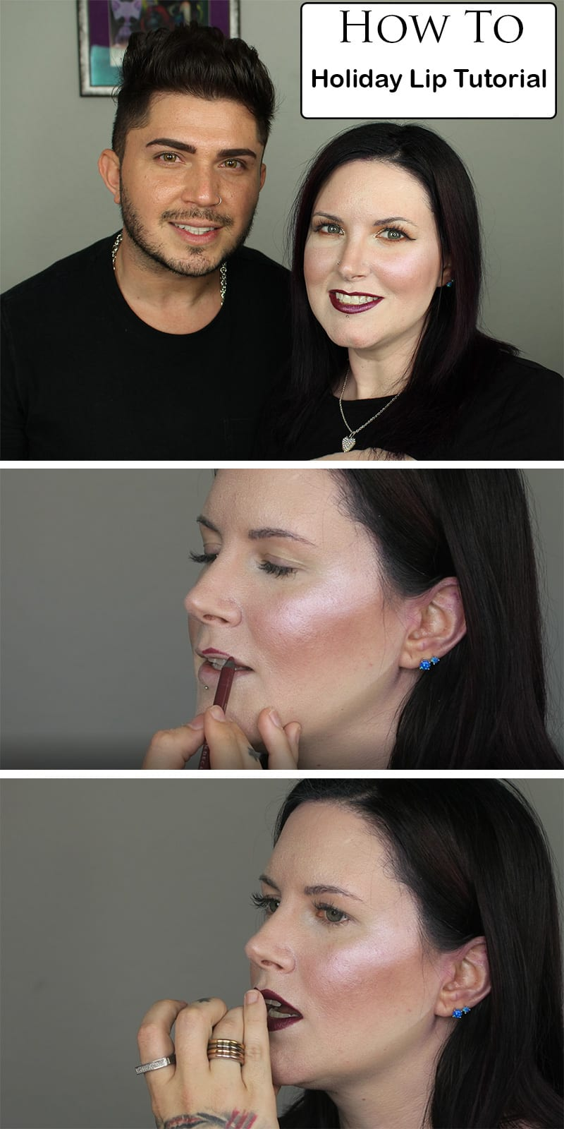 Holiday Lip Tutorial