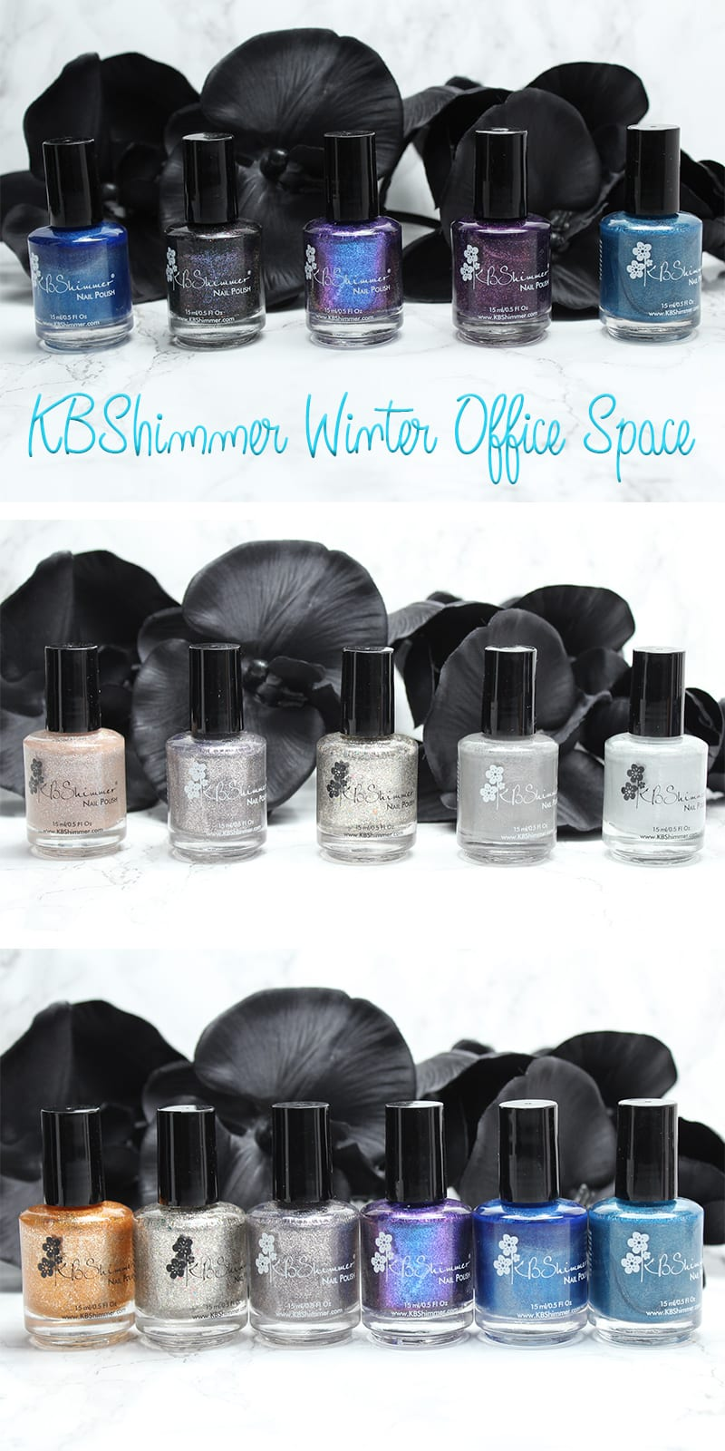 KBShimmer Winter Office Space Collections Review, Swatches