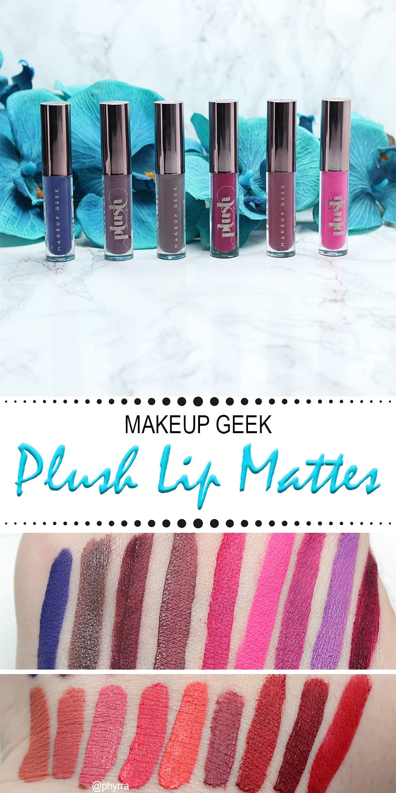 Makeup Geek Plush Lip Mattes Review Swatches Looks