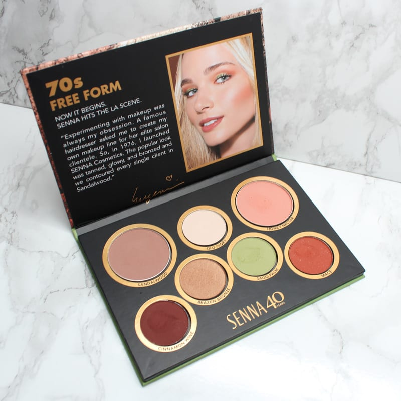 Senna 70's Free Form Palette Swatches Review
