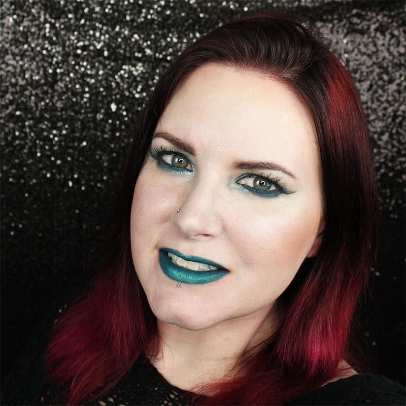 Kat Von D MetalMatte Smoky Teal Cruelty-Free Tutorial