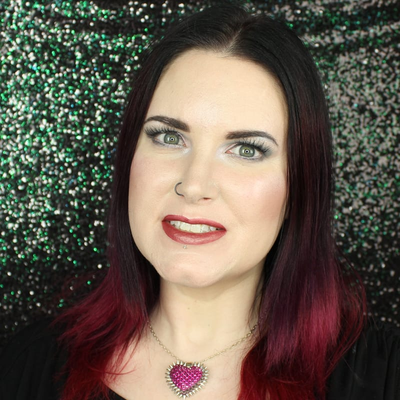Urban Decay Vice Lipstick Amulet swatch on pale skin