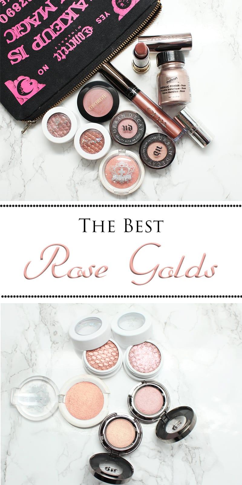 Best Rose Gold Eyeshadows, Lipsticks and Blush