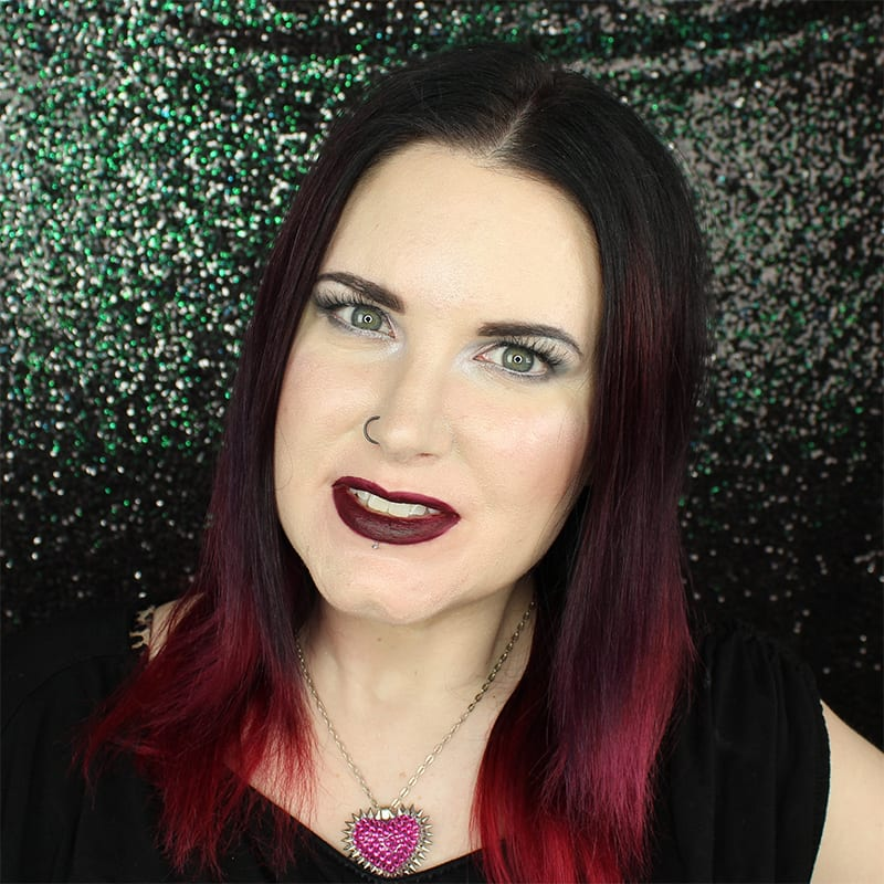 Urban Decay Vice Lipstick Blackmail swatch on pale skin