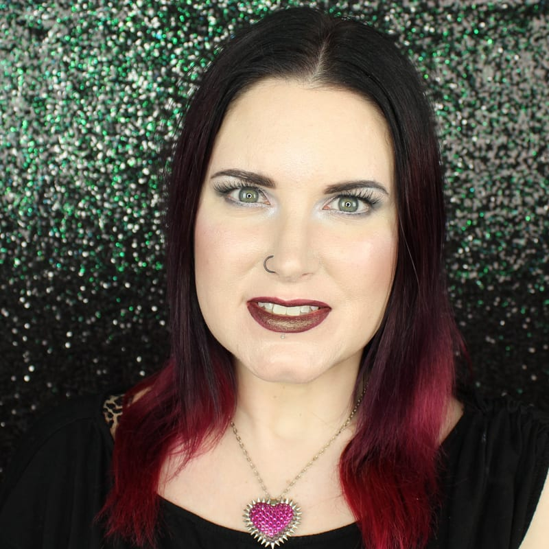 Urban Decay Vice Lipstick Conspiracy swatch on pale skin