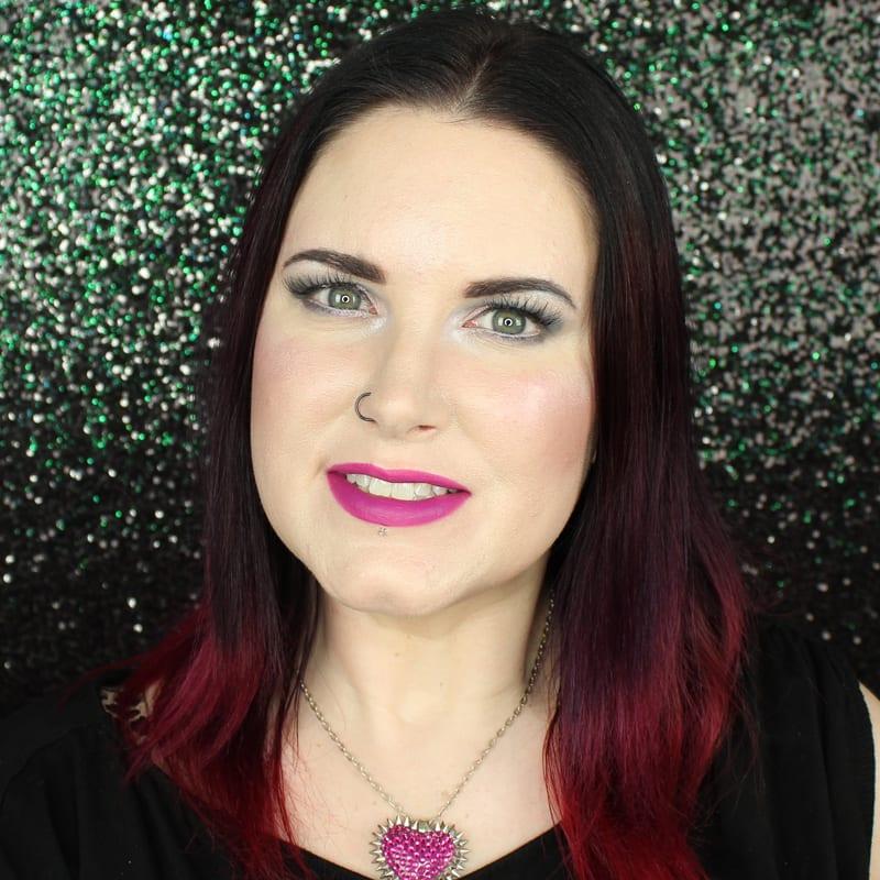 Urban Decay Vice Lipstick Crank swatch on pale skin