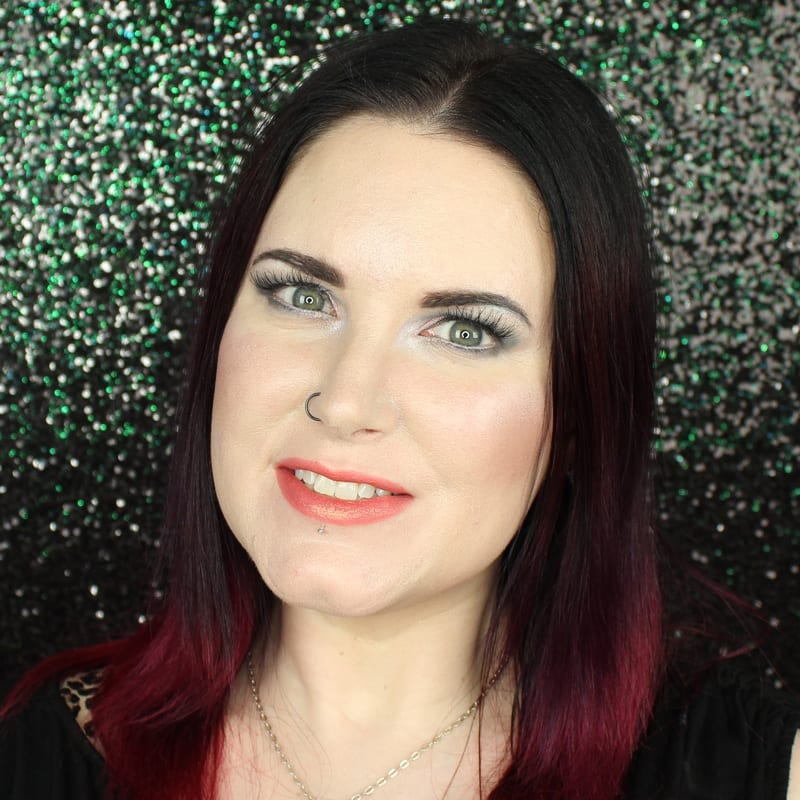 Urban Decay Vice Lipstick Flame swatch on pale skin