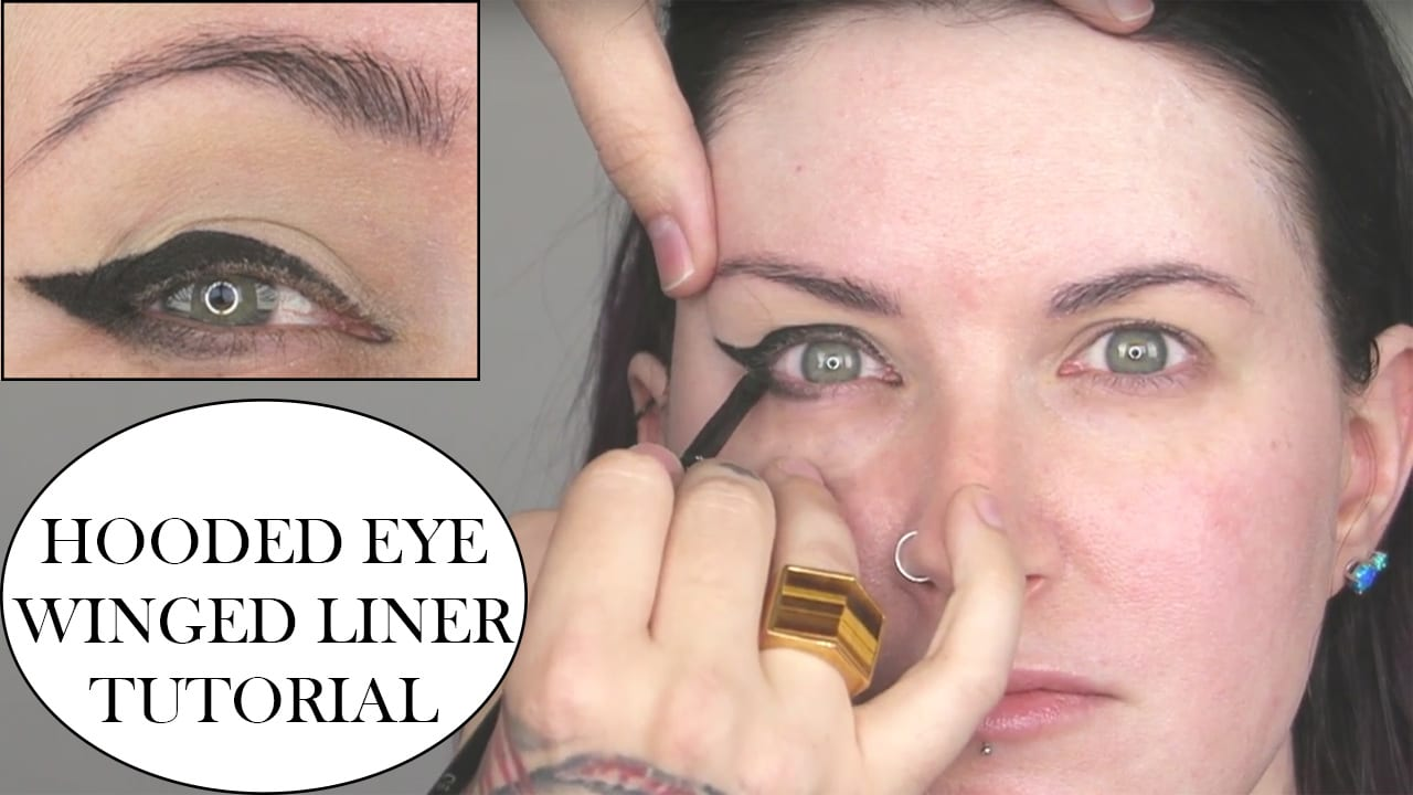 Winged eyeliner tutorial for hooded eyes with tips for mature eyes baditri Image collections