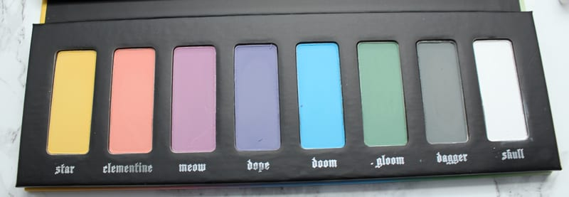 Kat Von D Pastel Goth Palette Review, Live Swatches, Look