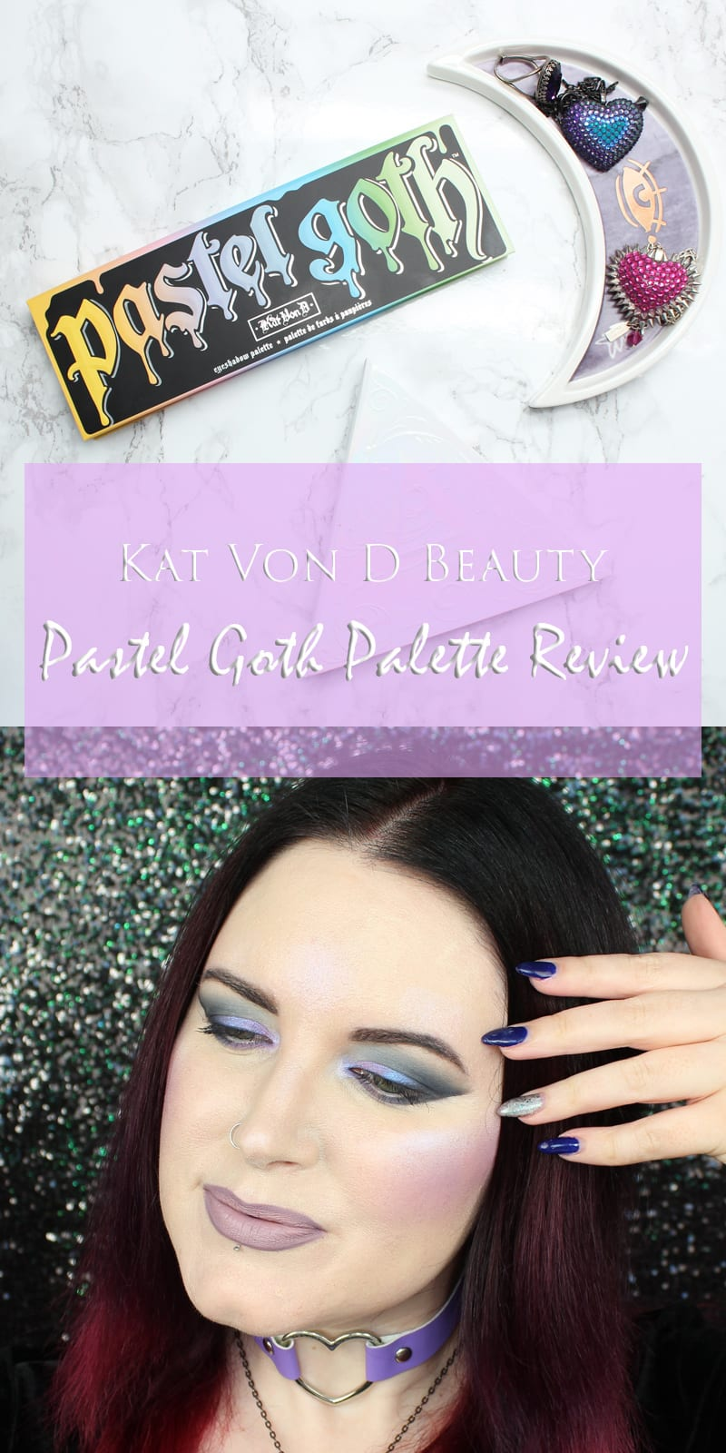 Kat Von D Pastel Goth Palette Review, Live Swatches, Story Time & Drama, Look