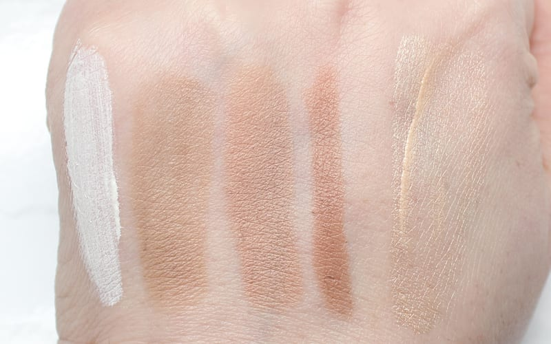 Best Cream Highlighters and Contours swatched on pale skin