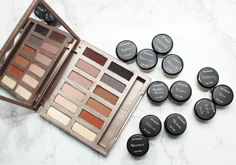 Silk Naturals Winter 2017 Collection Bare Necessities Matte3 palette vs Urban Decay Naked Ultimate Basics Palette Dupes