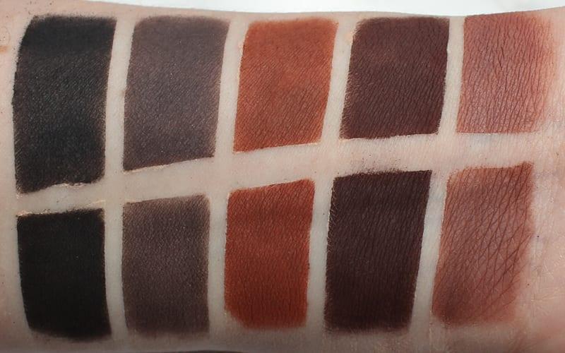 Silk Naturals Bare Necessities Matte3 Palette swatches