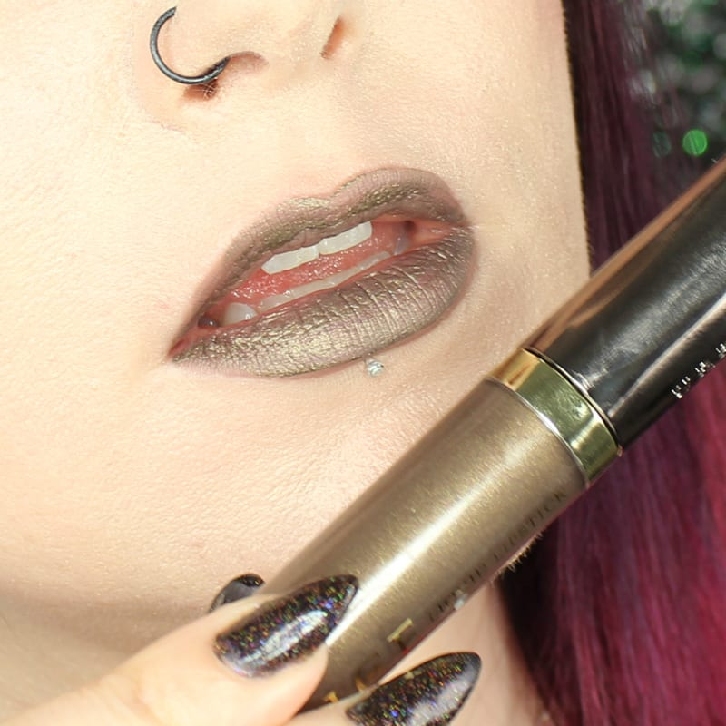 Urban Decay Vice Lipstick Studded swatch on pale skin