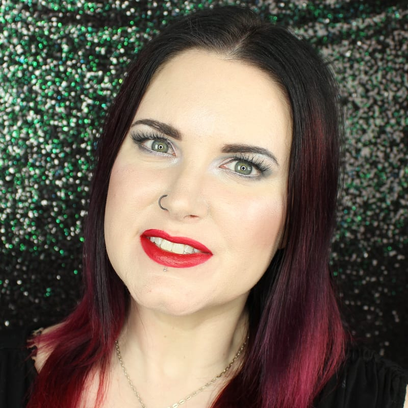 Urban Decay Vice Lipstick Trap Queen swatch on pale skin