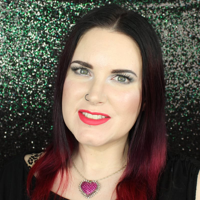 Urban Decay Vice Lipstick Tryst swatch on pale skin