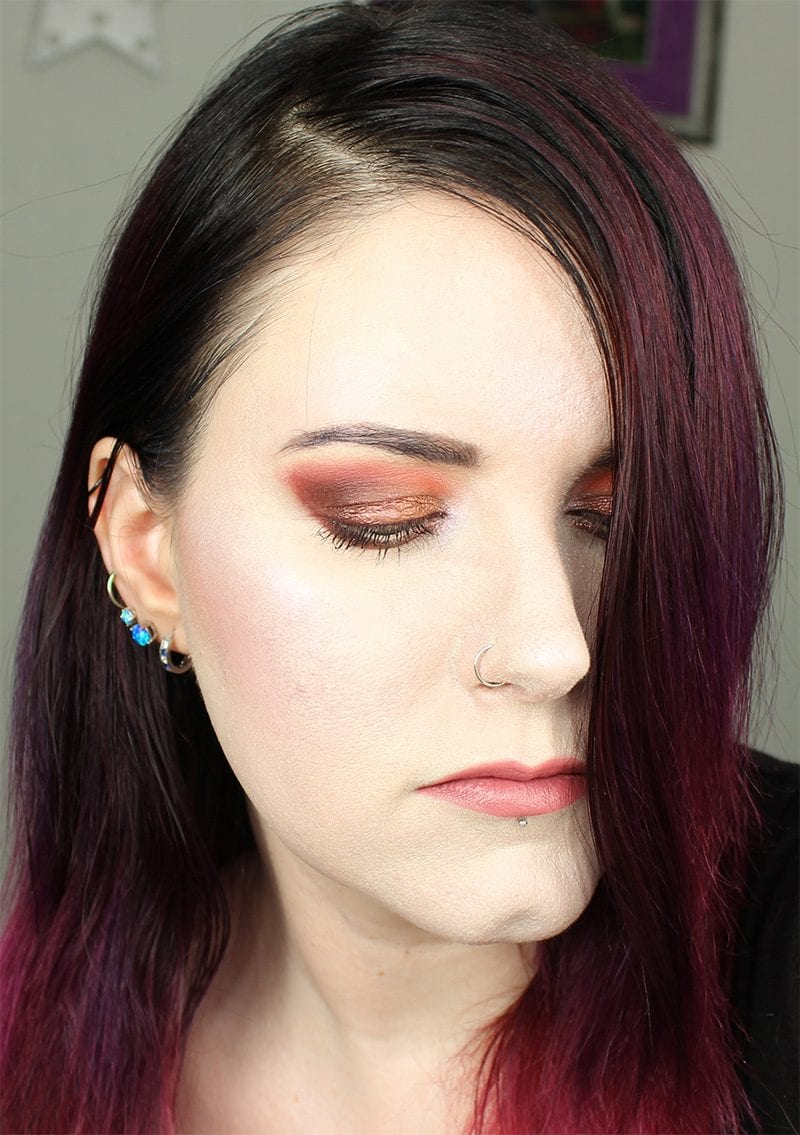 Urban Decay Vice Lipstick in Ravenswood on pale skin