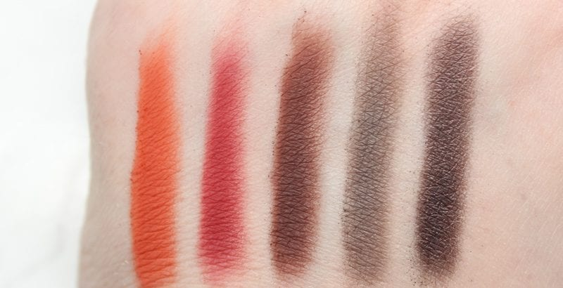 Urban Decay Spring 2017 Eyeshadow Singles - Spike, Relish, Punk, Serious, Smokeout swatches