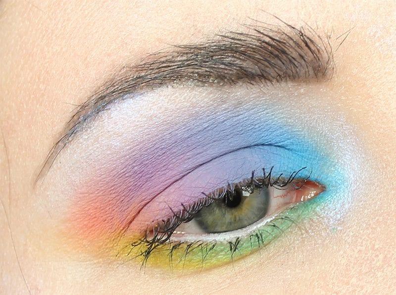 Kat Von D Pastel Goth Rainbow Tutorial Great For Hooded Eyes