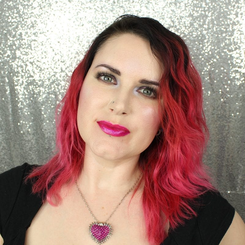 Makeup Geek Foiled Lip Gloss in Groupie swatch