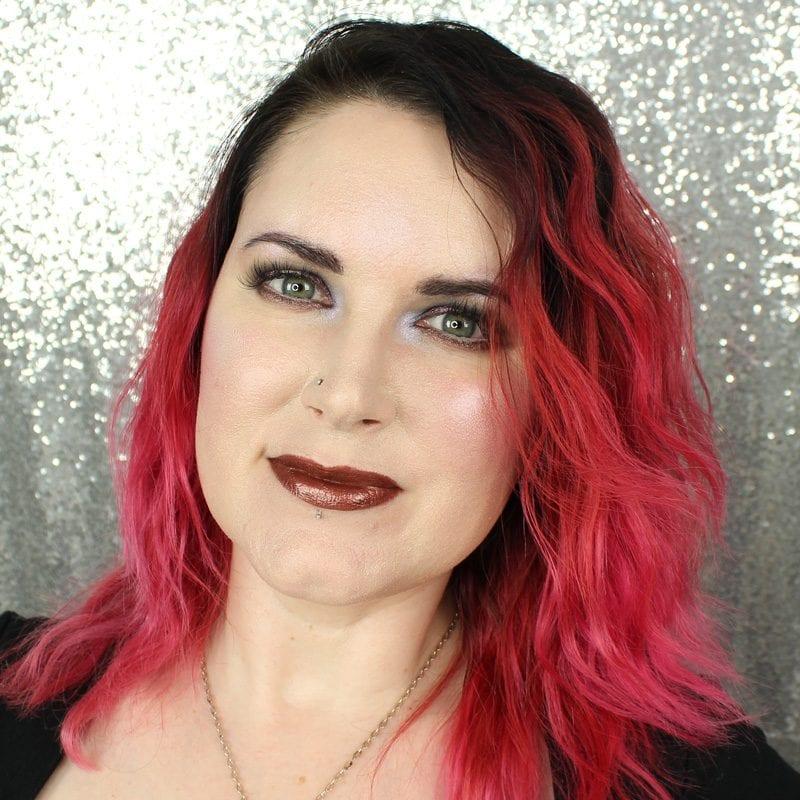 Makeup Geek Foiled Lip Gloss in Headliner swatch