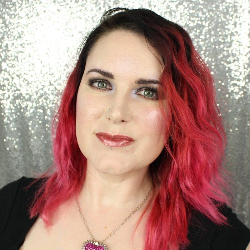 Makeup Geek Foiled Lip Gloss in Set List swatch