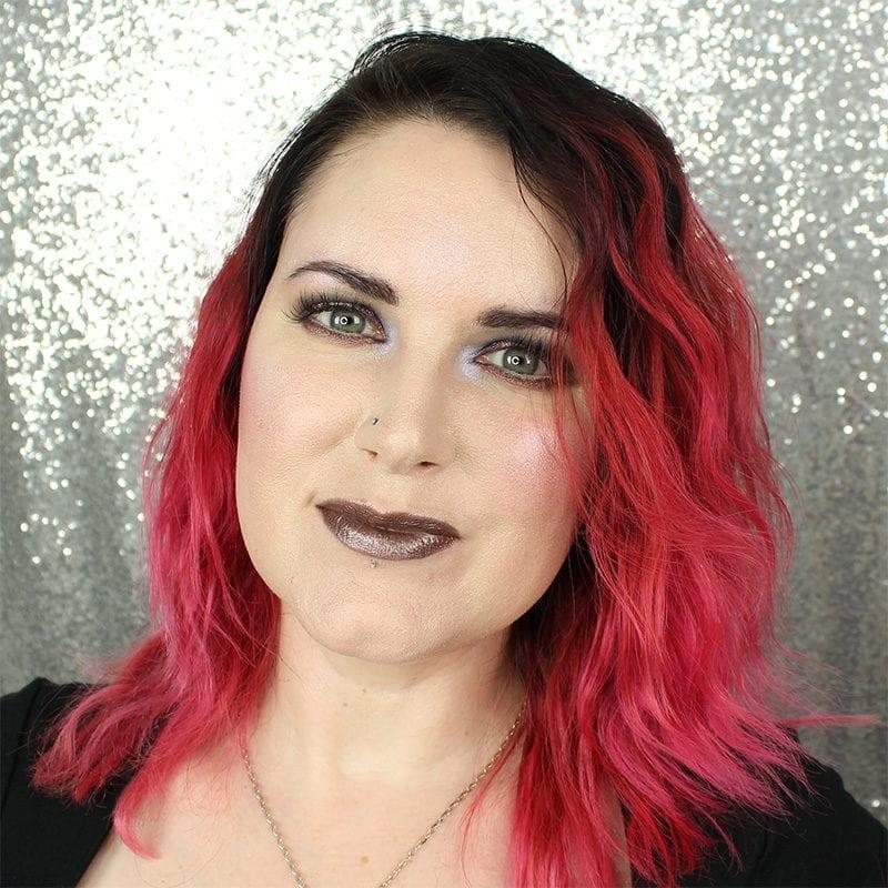 Makeup Geek Foiled Lip Gloss in Vinyl swatch