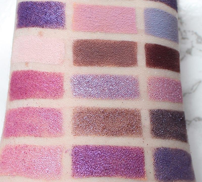 Best Purple Eyeshadows, Lipsticks and Blush - Purple Eyeshadow Swatches 2