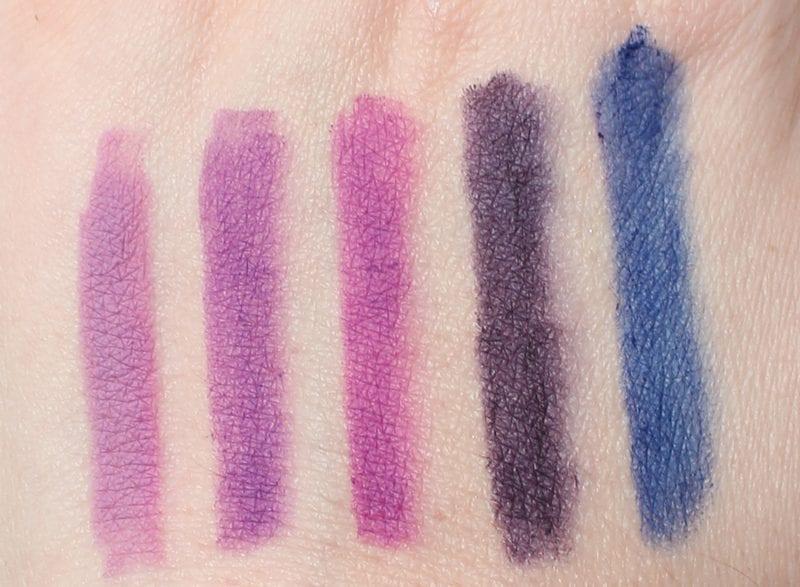 Best Purple Lip Pencils swatches