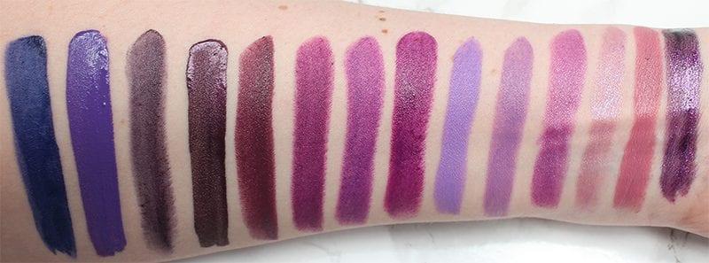 Best Purple Lipsticks Swatches