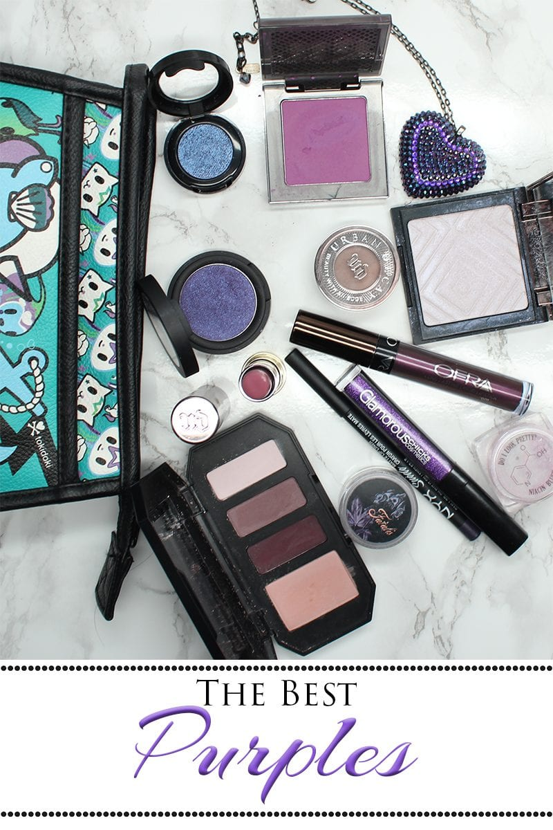 Best Purple Eyeshadows, Lipsticks and Blush. It's no secret I love the color purple. I've had a custom purple bed made, I've dyed my hair purple, and I've got a lot of purple makeup. This is the best purple makeup you'll find available today.