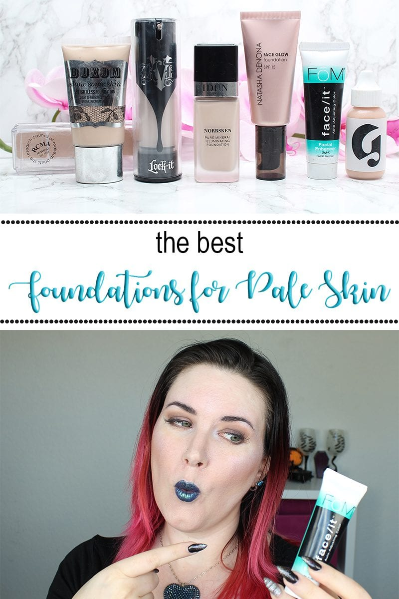 Best Foundations for Fair and Pale Skin, plus the best things to mix with foundations to customize them.