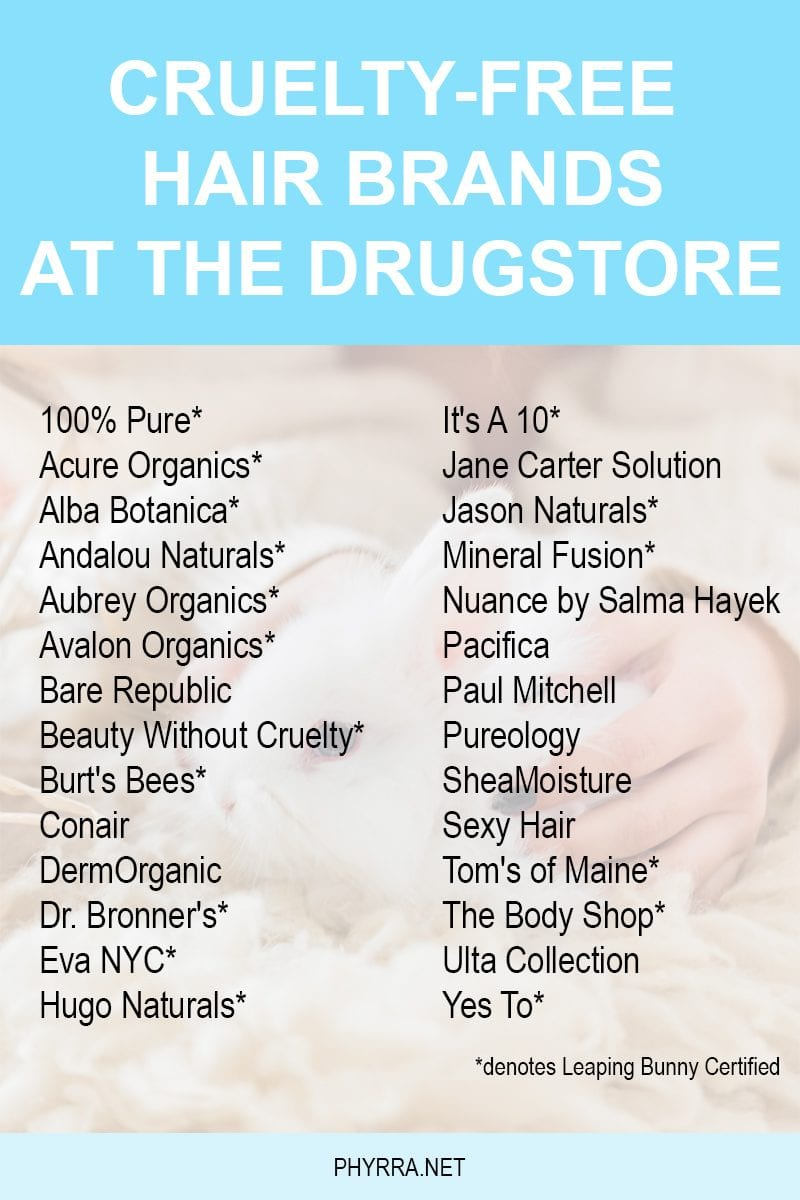 Cruelty Free Drugstore Hair Brands. These are brands you can find at Ulta, Target, Walgreens, CVS and Publix. Perfect for beauty on a budget!