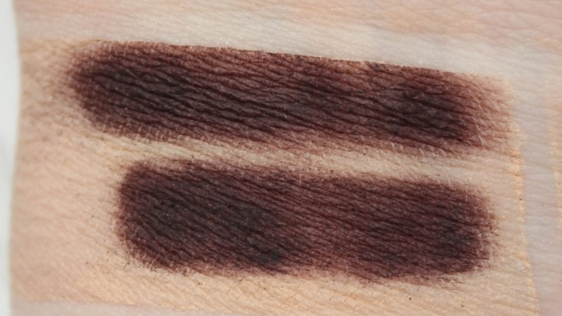Dose of Colors Wine Stain swatched on pale skin