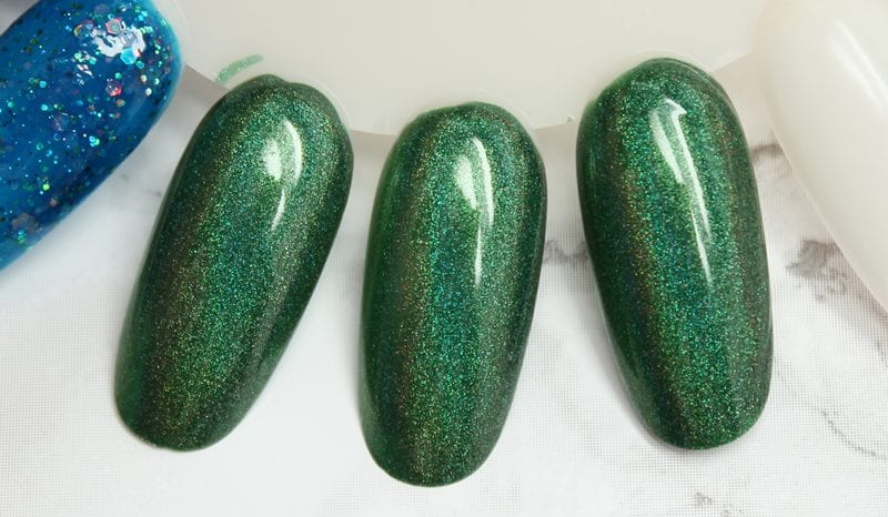 KBShimmer Keep Palm and CarryOn nail polish swatch