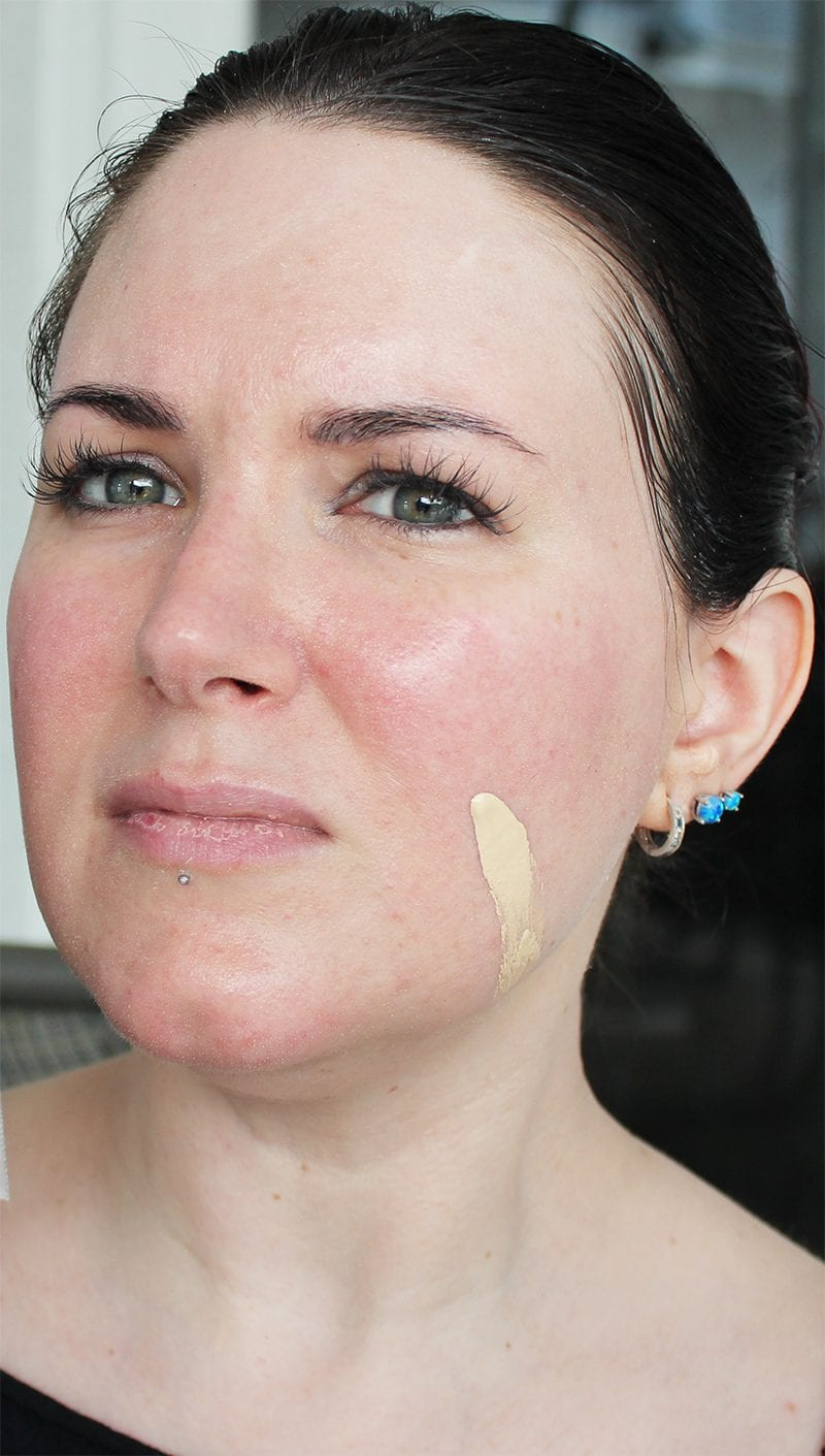 NARS All Day Luminous Weightless Foundation in Siberia swatch