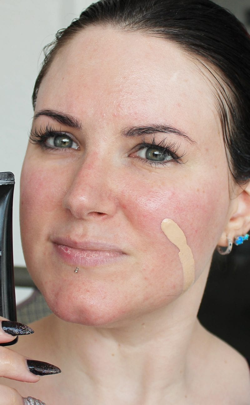Nyx HD Studio Foundation in Nude swatch