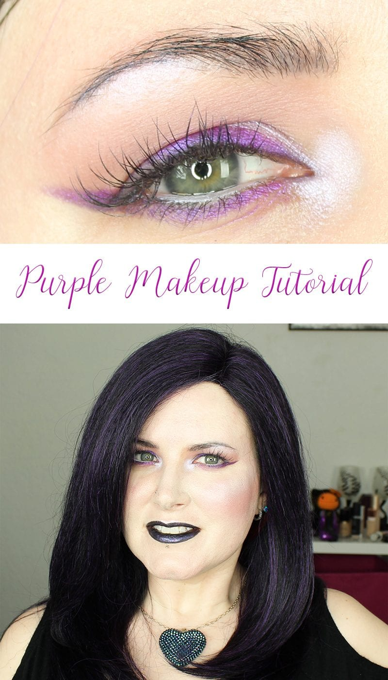 Purple Makeup Tutorial featuring Urban Decay and Makeup Geek