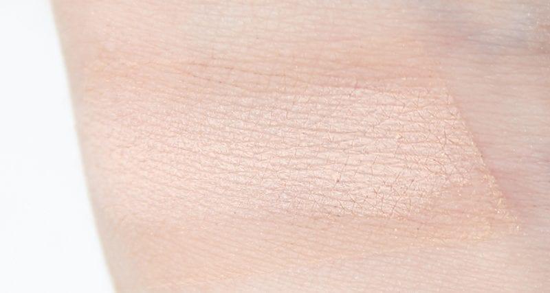 Tarte Rainforest of the Sea Eyeshadow Palette Vol. II Conch swatch on pale skin