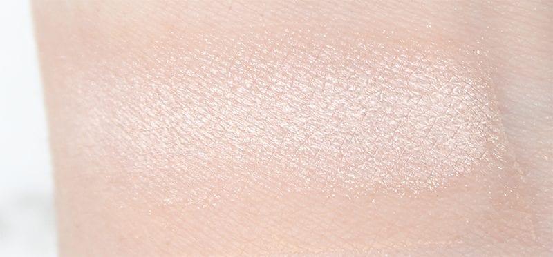 Tarte Rainforest of the Sea Eyeshadow Palette Vol. II Pearl swatch on pale skin