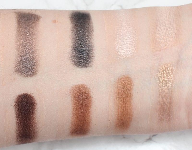 Tarte Rainforest of the Sea Eyeshadow Palette Vol. II swatches on fair skin