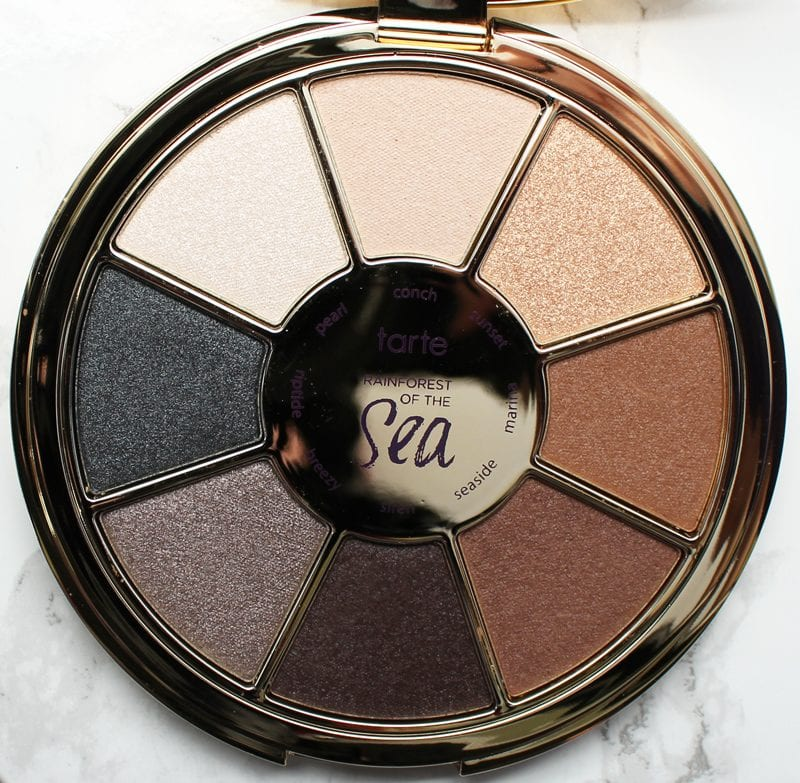 Tarte Rainforest of the Sea Eyeshadow Palette Vol. II Review, Swatches, Look on pale skin